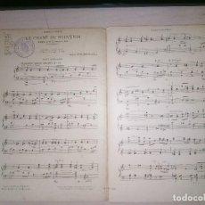 Partituras musicales: LE CHANT DU SOUVENIR (ADAGIO POU VIOLONCELLE SOLO), DE E. FILIPUCCI, PARTITURA AÑO 1921, ENSEMBLE. Lote 140475886