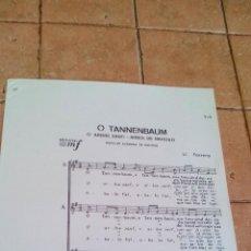 Partituras musicales: TANNENBAUM - ABRE SANTI - CANCION POPULAR DE NAVIDAD ALEMANA DE LL. FARRENY - ANTIGUA PARTITURA. Lote 140705118
