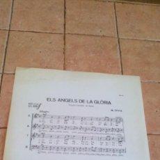 Partituras musicales: ELS ANGELS DE LA GLORIA - POPULAR FRANCESA DE NAVIDAD POR M.OLTRA - ANTIGUA PARTITURA. Lote 140706930