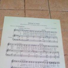 Partituras musicais: ACLAMAD AL SEÑOR - TOMAS ARAGÜES - ANTIGUA PARTITURA. Lote 140711974