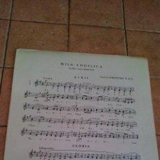 Partituras musicales: MISA ANGELICA - MARTIN GOROSTIDI S.S.S.- ANTIGUA PARTITURA. Lote 140712542