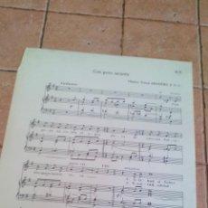 Partituras musicais: CON GOZO SACAREIS - TOMAS ARAGÜES F.S.C..- ANTIGUA PARTITURA. Lote 140712870