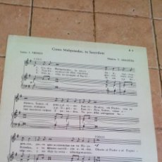 Partituras musicais: COMO MELQUISEDEC, TU SACERDOTE - TOMAS ARAGÜES - ANTIGUA PARTITURA. Lote 140712926