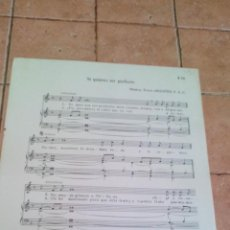 Partituras musicais: SI QUIERES SER PERFECTO - TOMAS ARAGÜES F.S.C.- ANTIGUA PARTITURA. Lote 140713014