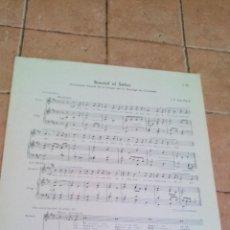 Partituras musicales: BUSCAD AL SEÑOR - I.P. SAN PIO X - ANTIGUA PARTITURA. Lote 140717694