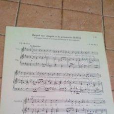 Partituras musicales: LLEGAD CON ALEGRIA A LA PRESENCIA DE DIOS - I.P. SAN PIO X - ANTIGUA PARTITURA. Lote 140717762