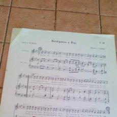 Partituras musicales: BENDIGAMOS A DIOS - J.JULIEN - ANTIGUA PARTITURA. Lote 140718762