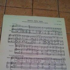 Partituras musicales: UNENOS, SEÑOR JESUS - I.P. SAN PIO X - ANTIGUA PARTITURA. Lote 140718958