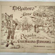 Partituras musicales - El Gaitero, Aires Asturianos, partitura. Asturias. - 140930185