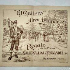 Partituras musicales: EL GAITERO, AIRES ASTURIANOS, PARTITURA, ASTURIAS.. Lote 140932258