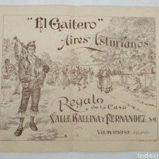 Partituras musicales - El Gaitero, Aires Asturianos, partitura, Asturias. - 140933777