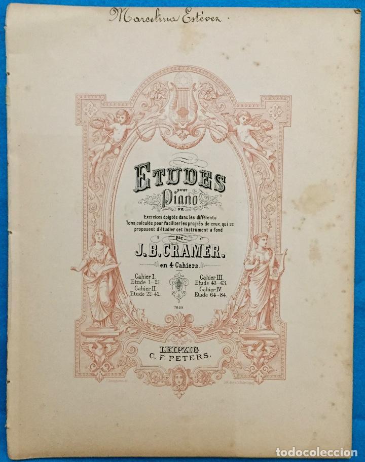 ETUDES POUR PIANO. J. B. CRAMER. PARTITURAS ANTIGUAS. (Música - Partituras Musicales Antiguas)