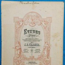 Partituras musicales: ETUDES POUR PIANO. J. B. CRAMER. PARTITURAS ANTIGUAS.. Lote 141554210