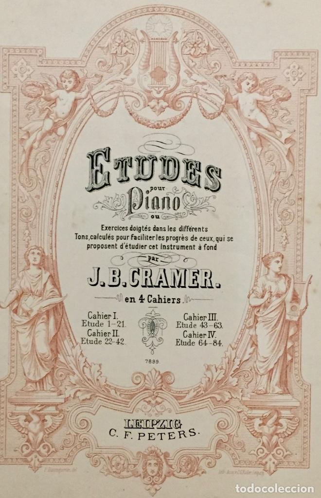 Partituras musicales: ETUDES POUR PIANO. J. B. CRAMER. PARTITURAS ANTIGUAS. - Foto 2 - 141554210