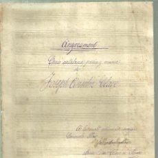 Partituras musicales: 1427.- PARTITURA D`ANYORAMENT CANÇO CATALANA POESIA Y MUSICA DE JOSEP ANSELM CLAVE. Lote 141921950