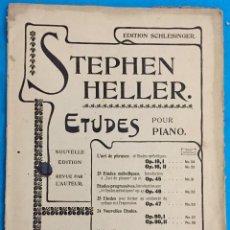 Partituras musicales: STEPHEN HELLER. ETUDES POR PIANO. PARTITURA PARA PIANO.. Lote 142936502