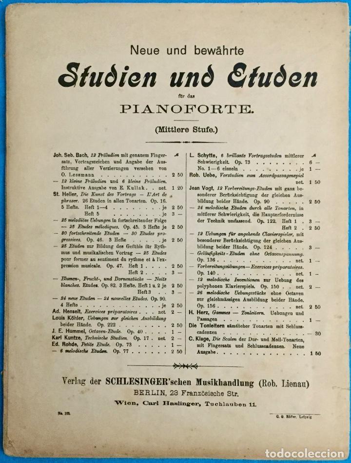 Partituras musicales: STEPHEN HELLER. ETUDES POR PIANO. PARTITURA PARA PIANO. - Foto 2 - 142936502