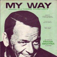 Partituras musicales: MY WAY - FRANK SINATRA - PARTITURA. Lote 143666338