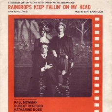 Partituras musicales: RAINDROPS KEEP FALLIN ON MY HEAD - PARTITURA. Lote 143666386