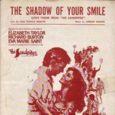 Partituras musicales: THE SHADOW OF YOUR SMILLE - PARTITURA. Lote 143666406