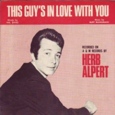 Partituras musicales: THIS GUY`S IN LOVE WITH YOU - PARTITURA. Lote 143666446