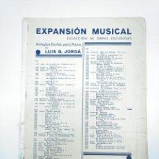 Partituras musicales: PARTITURA CELEBRE SERENATA F. SCHUBERT. COLECCION OBRAS ESCOGIDAS PARA PIANO LUIS G. JORDA. TDKP13. Lote 144282402