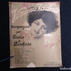 Partituras musicales: PARTITURA MELODIA CANTO Y PIANO ' AMORE DOVE SEI TU? ' - A. GENISE / VINCENZO VALENTE 10 PAG, 1S. Lote 144740970