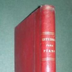 Partituras musicales - ESTUDIOS PARA PIANO. Partituras. Varias obras en 1 vol. - 145232902