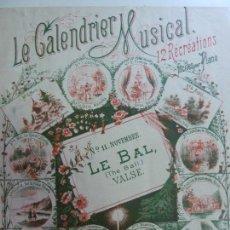 Partiture musicali: LE CALENDRIER MUSICAL PIANO. Lote 145486830