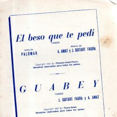 Partituras musicales: VESIV PARTITURA EL BESO QUE TE PEDI TANGO. Lote 146196954