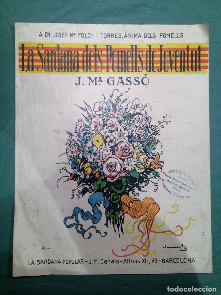 LA SARDANA DELS POMELLS DE JOVENTUT - JM GASSO - EDIT - LA SARDANA POPULAR (Música - Partituras Musicales Antiguas)