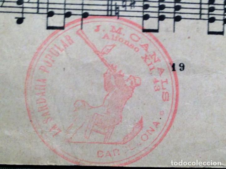 Partituras musicales: LA SARDANA DELS POMELLS DE JOVENTUT - JM GASSO - EDIT - LA SARDANA POPULAR - Foto 6 - 146575246