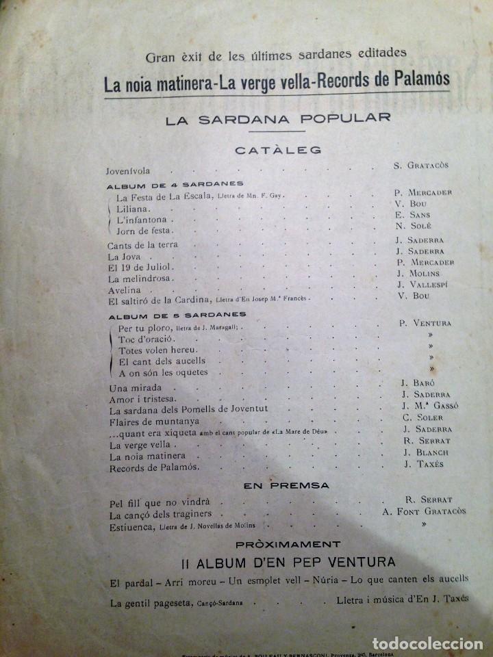 Partituras musicales: LA SARDANA DELS POMELLS DE JOVENTUT - JM GASSO - EDIT - LA SARDANA POPULAR - Foto 7 - 146575246