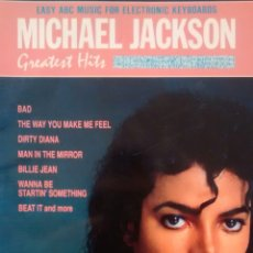 Partituras musicales: EASY ABC MUSIC FOR ELECTRONIC KEYBOARDS. MICHAEL JACKSON. GREATEST HITS (WARNER, 1989). Lote 146927970