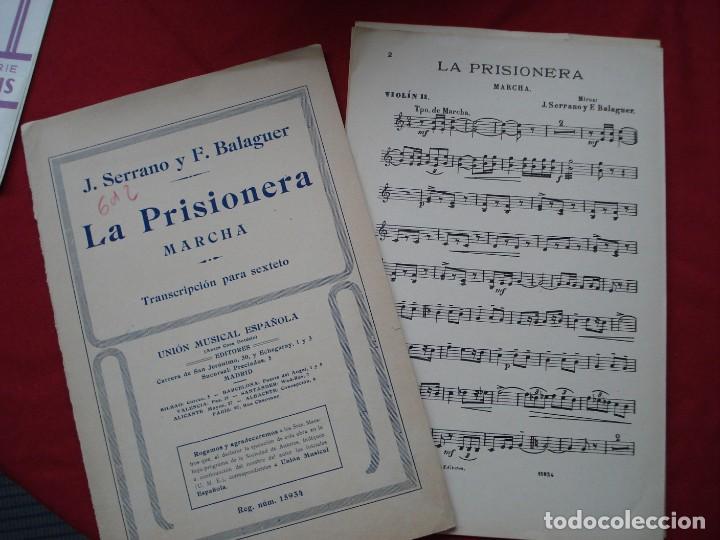 PARTITURAS LA PRISIONERA (Musik - Alte Partituren)
