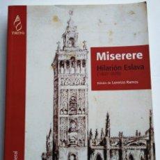 Partituras musicales: HILARIÓN ESLAVA: MISERERE. (PARTITURA COMPLETA). TRITÓ EDICIONS.. Lote 147348813
