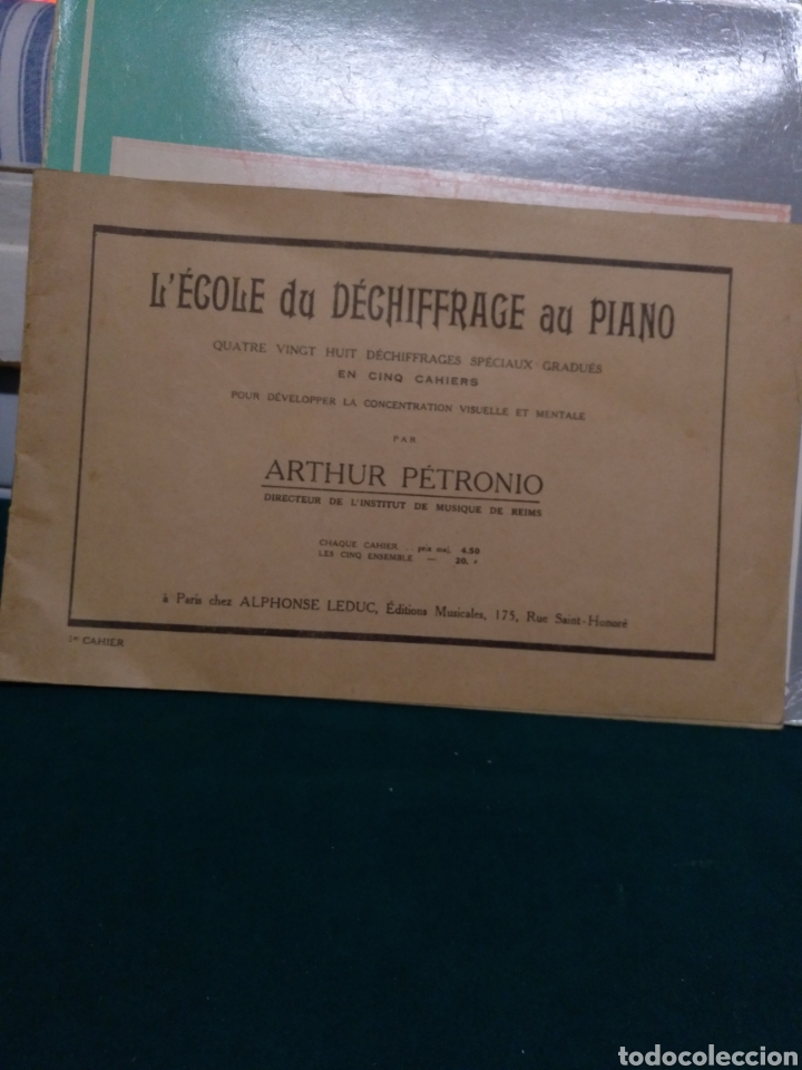 L' ECOLE DU DECHIFFRAGE AU PIANO. (Música - Partituras Musicales Antiguas)
