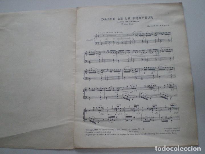 Partituras musicales: MANUEL DE FALLA - EL AMOR BRUJO - ANTIGUA PARTITURA UK J. & W. CHESTER Ltd. // DANCE OF TERROR - Foto 2 - 147708670