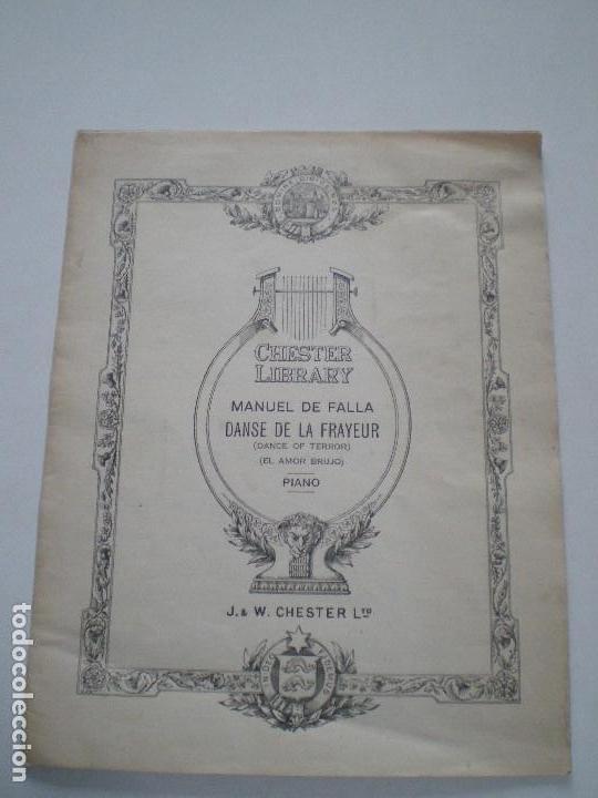 MANUEL DE FALLA - EL AMOR BRUJO - ANTIGUA PARTITURA UK J. & W. CHESTER LTD. // DANCE OF TERROR (Música - Partituras Musicales Antiguas)