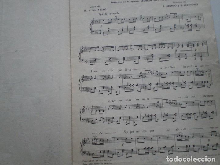 Partituras musicales: ALONSO MONTORIO - Robame Esta Noche - ANTIGUA PARTITURA SGAE MADRID 1947 - Foto 2 - 147710046