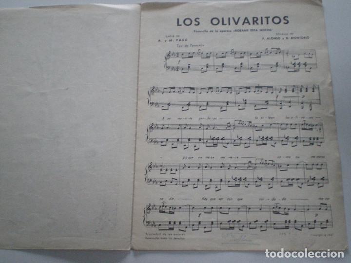 Partituras musicales: ALONSO MONTORIO - Robame Esta Noche - ANTIGUA PARTITURA SGAE MADRID 1947 - Foto 3 - 147710046