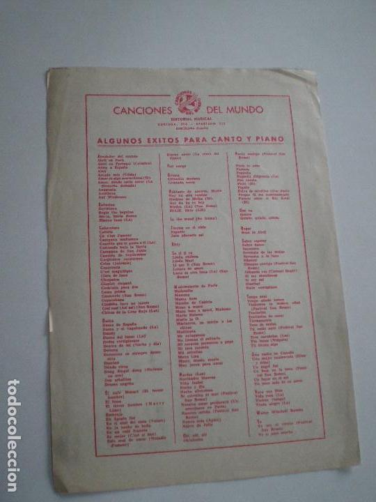 Partituras musicales: LOS 5 LATINOS - La Montaña De Imittos - PARTITURA CANCIONES DEL MUNDO 1961 // AUGUSTO ALGUERO - Foto 3 - 147710986