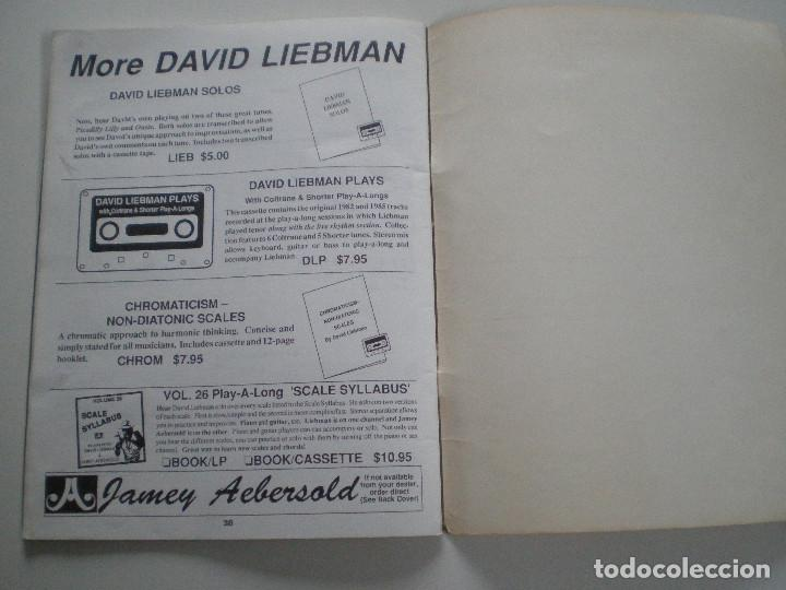 Partituras musicales: DAVID LIEBMAN - LIBRETO DE PARTITURAS USA JAMEY AEBERSOLD 1979 // JAZZ IMPROVISATIONS - Foto 5 - 147712210