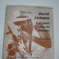 Partituras musicales: DAVID LIEBMAN - LIBRETO DE PARTITURAS USA JAMEY AEBERSOLD 1979 // JAZZ IMPROVISATIONS . Lote 147712210