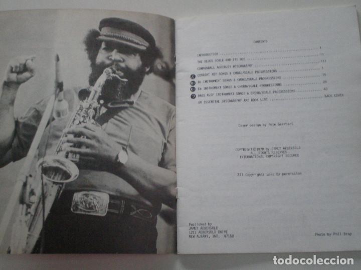 Partituras musicales: CANNOBALL ADDERLEY- LIBRETO DE PARTITURAS USA JAMEY AEBERSOLD 1978 // JAZZ IMPROVISATIONS - Foto 2 - 147712426