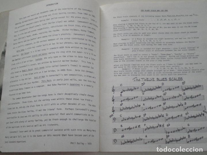Partituras musicales: CANNOBALL ADDERLEY- LIBRETO DE PARTITURAS USA JAMEY AEBERSOLD 1978 // JAZZ IMPROVISATIONS - Foto 3 - 147712426