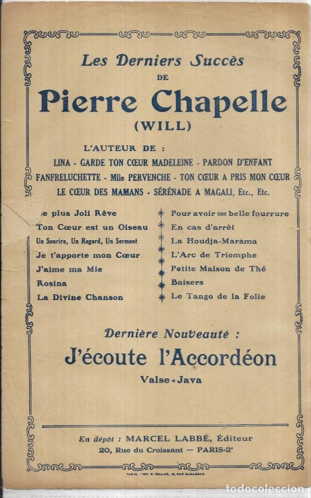 P16 Antigua Partitura Le Plus Joli Réve Poéme De Pierre Chapelle