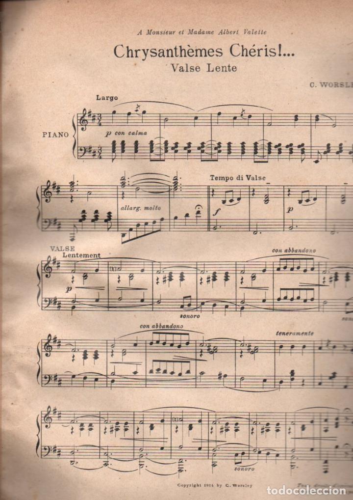 WORSLEY : CHRYSANTHÈMES CHERIES (1914) (Música - Partituras Musicales Antiguas)