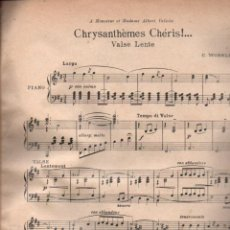 Partituras musicales: WORSLEY : CHRYSANTHÈMES CHERIES (1914). Lote 148227698