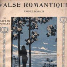 Partituras musicales: WORSLEY : VALSE ROMANTIQUE (MUSICAL EMPORIUM, S.F.). Lote 148227890